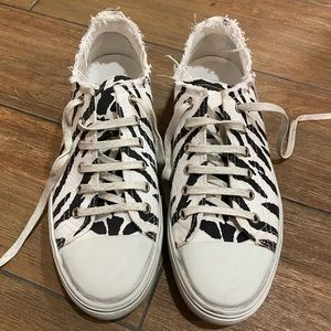Saint Laurent distressed sneakers